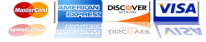 We Accept Visa masterCard Dicover and American Express in San Marcos